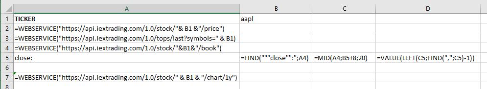 Des données JSON (ou XML) dans Excel sans VBA