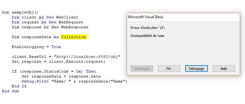 API REST JSON depuis Excel et VBA